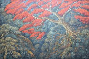Lot 29-Haji-Widayat-'Pohon-Flamboyan'-1991-Oil-on-canvas-150-x-224cm