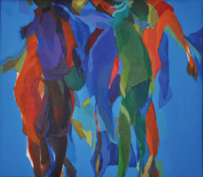 Lot 42-Khalil-Ibrahim-'Velocity-IV'-(2003)-A-Continued-Dialogue-59cm-x-69cm-Acrylic-on-Canvas