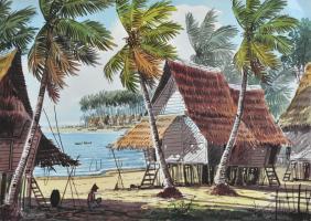 Lot 73-A.B-Ibrahim,-Watercolour-on-paper,-27.5-x-38cm