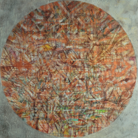 Lot 76-Nizar-Kamal-Ariffin,-Siri-Dunia---Kota-Perang-#5,-2014,-Acrylic-on-canvas,-152-x-152cm