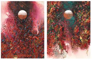 Lot 78-Ismail-Latiff-Gambir-No.-1-&-Kayu-Manis-No.2,-2006-Acrylic-on-paper-38-x-29-cm