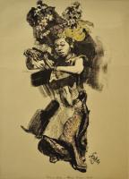Lot 84-Roland-Straber,-Legong---Tanzerun-(Bali),-1928,-Lithograph,-43-x-30.5cm