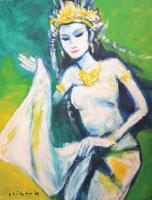 Lot 86-Jeihan-Sukmantoro-'Si-Penari'-2009-Oil-on-canvas-90-x-70cm