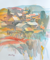 Lot 11-Raphael-Scott-Ahbeng-_Village_-1989-Watercolour-on-Paper-42cm-x-29cm