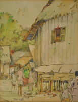 Lot 12-Tan-Choon-Ghee,-1961,-Watercolour-on-paper,-30-x-22cm