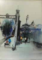 Lot 19-Wan-Soon-Kam-'Singapore-Street-Scene-(1970's)-Acrylic-on-Canvas-