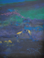 Lot 30-Long-Thien-Shih,-Peacock-Rock-Cod-&-Coral,-2001,-Acryic-on-canvas,-121-x-91-cm