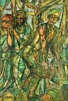 Lot 46-Chuah-Siew-Teng---Untitled-Abstract,-Batik,-16_-x-11_