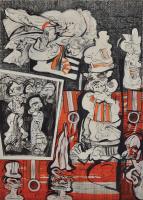 Lot 49-Zulkifli-Yusoff,-I-will-Call-My-Lawyer,-1997,-Acrylic-on-canvas,-213-x-152cm