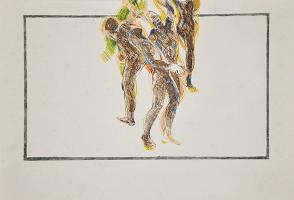 Lot 53-Khalil-Ibrahim-'Nude-Movement'-(1981)-Exhibition-@-Equatorial-Hotel,-Kuala-Lumpur-Ink-on-Paper-30cm-x-21cm-RM-16000-