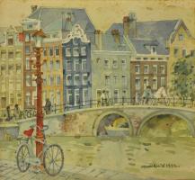Lot 54-Tan-Choon-Ghee,-Amsterdan,-1992,-Watercolour-on-paper,-23.5-x-25.5cm