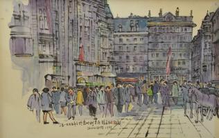 Lot 55-Tan-Choon-Ghee-Vienna-Austria,-1995,-Watercolour-on-paper,-43-x-68cm