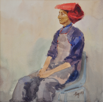 Lot 59-Tong-Chin-Sye-1983-Watercolour-on-paper-27.5-x-27.5-cm