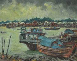 Lot 60-Fung-Yow-Chork,-1993,-Oil-on-canvas,-39.5-x-49.5cm