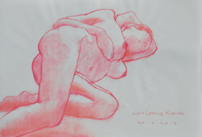 Lot 82-Kow-Leong-Kiang-Reclining-Nude,-2012-Pastel-on-paper-29.5-x-42-cm