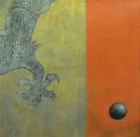 Lot 97-Raduan-Man,-Acrylic-on-canvas,-61-x-61cm-