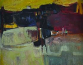 20-Landscape, 1981 Oil on Canvas 86cm x 86cm Oil on Canvas
