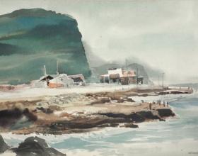 26-Seaside, 1996 28cm x 38cm 1996 Watercolour on Paper