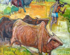 14-Happy Kampung Life, 2010 90cm x 90cm 2010 Oil on Canvas