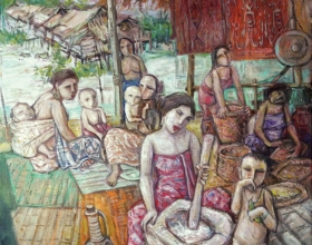 16-Image of Sarawak 2, 2011 107cm x 107cm 2011 Oil on Canvas