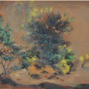 2-Misty, 1954 RM 44,000.00-SOLD | Watercolour on paper | 34.5 x 52.5 cm