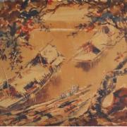 1-Destination, 1950 RM 55,000.00-SOLD   Watercolour on paper   34.5 x 52.5 cm