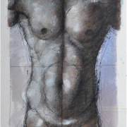 1-Male Torso, 1999 RM 16,500.00-SOLD   Mixed media on paper   57 x 44 cm
