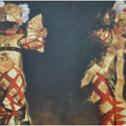 11-Red Legong, 2000 RM 137,500.00-SOLD   Acrylic on linen   120 x 180 cm