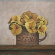 2-Flowers, 1996 RM 9,350.00-SOLD   Acrylic on board   18.5 x 19 cm