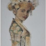 4-Dancer - Figure I, 1997 RM 17,600.00-SOLD   Mixed media on paper   67 x 38 cm