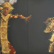 66-Ahmad-Zakii-Anwar,-Legong-4,-1997,-Acrylic-on-canvas,-120-x-180cm,-2-panels