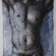 8-Male Torso in Grey, 1999 RM 17,600.00-SOLD   Mixed media on paper   57 x 44 cm
