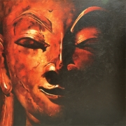 9-Red Buddha, 2002-RM 36,300.00-SOLD | Oil on linen | 122 x 122 cm