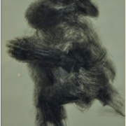 3-Pertarungan, 1999 RM 11,550.00-SOLD | Charcoal on paper | 53 x 37 cm
