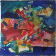 1-Colour of Life I, 1996 RM 10,000.00 - RM 17,000.00 | Acrylic on cotton paper | 69.5 x 70 cm
