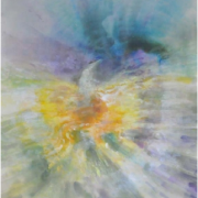 1-Ascending of the Golden Peacock, 2011 RM 5,500.00-SOLD | Mixed media on paper | 72 x 53 cm