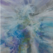 2-Ascending of the Winged Horse, 2012 RM 6,600.00-SOLD   Mixed media on paper   73 x 53 cm
