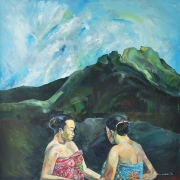 1-Spirit of the Mountain, 1996 RM 10,000 - RM 16,000-AVAILABLE | Oil on canvas | 126.5 x 125.5 cm