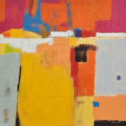 1-Sunset 15, 2006 RM 5,500.00-SOLD | Mixed media on canvas | 137 x 137 cm