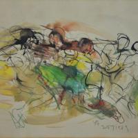 1-Yusof-Ghani,-Siri-Tari,-1998,-Watercolour-on-paper,-26-x-36cm-