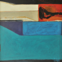 3-Tajudin-Ismail-'Blue-Horizon'-(1993)-Acrylic-on-canvas,-51-x-51-cm