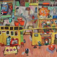 36-Yau-Bee-Ling,-The-Many-Corners-of-My-House,-2000,-oil-on-canvas,-65-x-101cm