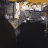 42-Sunaryo-(b.-Indonesia,-1946)-Between-Two-Spheres,-2000--Mixed-media-on-canvas-I-140-x-120cm--RM-50,000---90,000