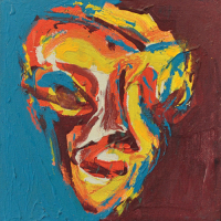 44-Yusof-Ghani,-Toepng-Series-Pucok,-1996,-Oil-and-acrylic-on-canvas,-25-x-25cm