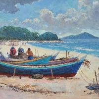 45-M.-Zain,-1996,-Oil-on-canvas,-39.5-x-49.5cm