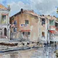47-Shafurdin-Habib-Sungai-Melaka,-2014-Watercolour-on-paper-30-x-45-cm