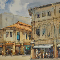 48-Ong Kim Seng,-2003,-watercolour-on-paper,-51.5-x-72cm