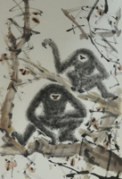 51-Chen-Wen-Hsi,-Ink-and-colour-on-paper-152-x-42cm-cm