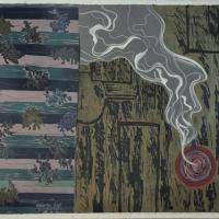 67-Juhari-Said,-Cawan-Ungu-dan-Baju-Kurung,-1992,-12-18,-Lino-cut-on-paper,-50-x-59cm