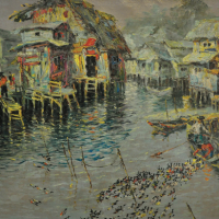 81-Tan-Peng-Hoi,-1968,-Oil-on-canvas,-48-x-58cm-